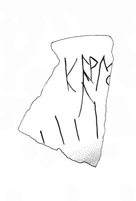 Inscription G-104. This graffito is one of the earliest Phrygian documents.